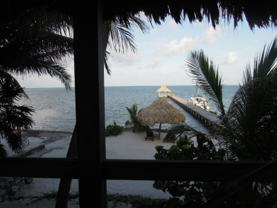 The view from our porch at Xanadu Resort in San Pedro Belize