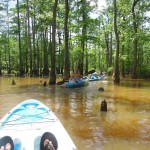 Kayaking the Ghost River with our friends David and Lacy